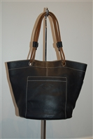 Black Leather Tod's Bucket Bag, size M