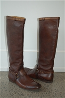 Dark Leather Gucci Boots, size 8