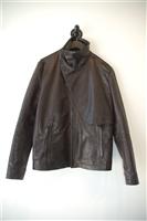Black Leather Alexandre Plokhov Leather Jacket, size L