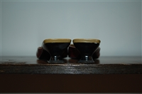 Olive Prada Kitten Heels, size 8