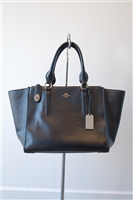 Black Leather Coach Carry-All, size M