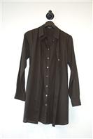 Basic Black Ann Demeulemeester Button Shirt, size 4