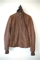 Aged Leather Rick Owens Leather Jacket, size L
