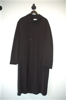 Basic Black Barney's New York Overcoat, size L