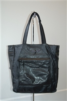 Black Leather Zadig & Voltaire Tote, size L