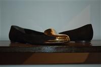 Black & Gold Alexander McQueen Flats, size 8