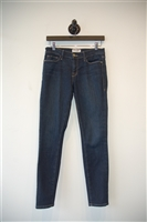 Dark Denim Frame Denim Skinny Jean, size 28