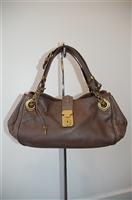 Dark Leather Bottega Veneta Handbag, size M