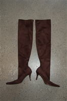 Chocolate Suede Walter Steiger Thigh-High Boots, size 8.5