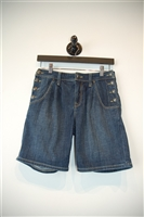Faded Denim Burberry - Brit Shorts, size 24