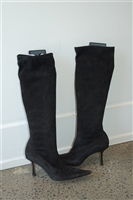 Black Suede Jimmy Choo Boots, size 8