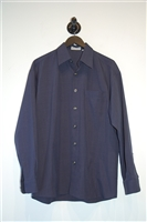 Navy No Label Button Shirt, size M