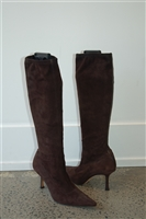 Chocolate Suede Jimmy Choo Boots, size 8