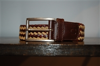 Mixed Browns Canali Belt, size S