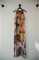 Abstract Print Jeremy Laing Maxi Dress, size XS