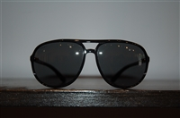 Shiny Black Prada Sunglasses, size O/S