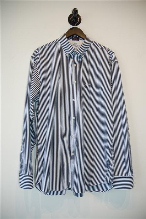 Navy & White Paul & Shark Button Shirt, size XL
