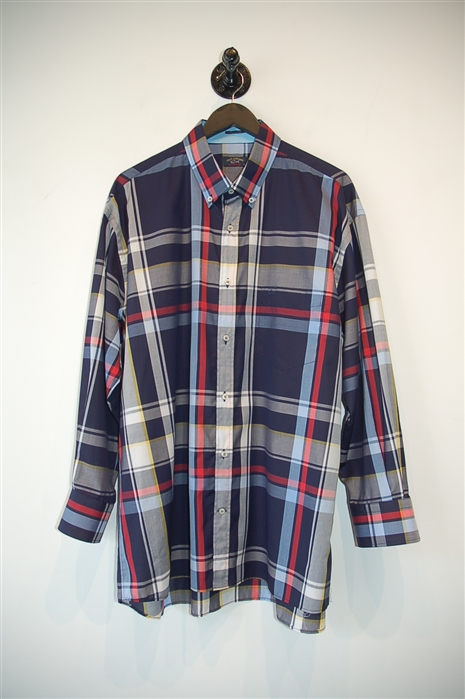 Check Paul & Shark Button Shirt, size 2XL