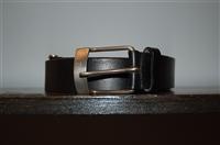 Black Leather Gianfranco Ferre Belt, size XL