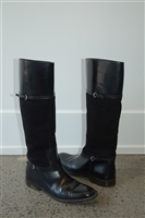 Black Leather Gucci Boots, size 8