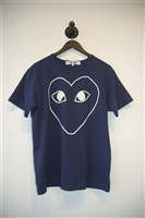 Navy & White Comme Des Garcons - Play T-Shirt, size XL