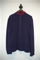 Navy Versace Jeans Couture Zippered Sweater, size XL
