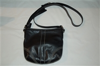 Black Leather Coach Cross-Body, size S
