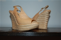 Beige Jimmy Choo Wedge, size 5