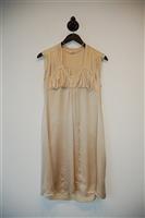 Satin Beige Miu Miu Cocktail Dress, size 0