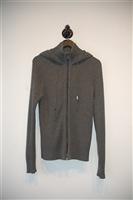 Dark Silver Dolce & Gabbana Zippered Sweater, size M