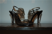Black Patent Fendi Open-Toe Heels, size 8