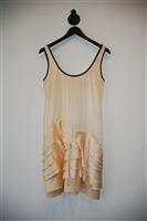 Satin Beige Prada Cocktail Dress, size 2