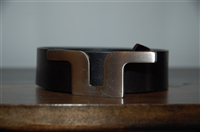 Black Leather J. Lindeberg Belt, size XL