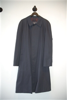 Navy Burberry - Vintage Overcoat, size 2XL