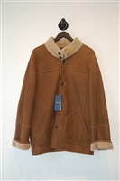 Walnut Faconnable Shearling Coat, size M