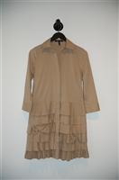 Khaki BCBG Maxazria Shirt Dress, size XS