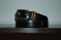 Black Leather Giorgio Armani Belt, size L