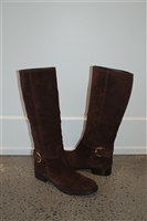 Brown Suede Gucci Boots, size 10