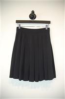 Basic Black Alexander McQueen Pleated Skirt, size 4