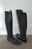 Black Leather Migliorini Boots, size 8