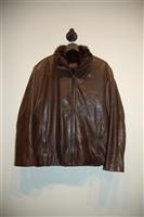 Dark Leather Marc New York Leather Jacket, size M