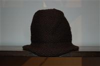 Basic Black Miu Miu Cloche Hat, size O/S