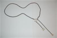 Silver Chanel Belt, size O/S