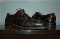 Black Leather Salvatore Ferragamo Oxford, size 8