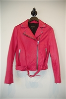 Hot Pink Mackage Leather Jacket, size S