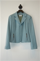 Powder Teal Akris - Punto Jacket, size 6