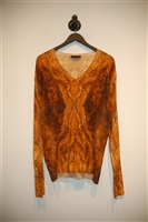 Mixed Browns Alexander McQueen Pullover, size M