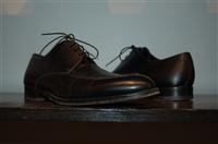 Black Leather Ermenegildo Zegna Derby, size 8