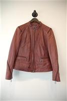 Burgundy Bernardo Leather Jacket, size L