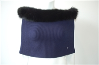 Navy & Black Dior Cowl Scarf, size O/S